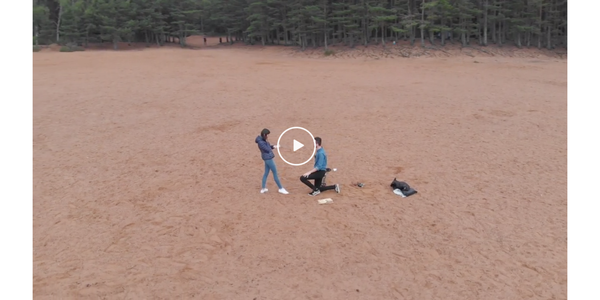 A clever drone pilot recently put his drone to use in a very new way: To document his marriage proposal. Using a DJI Mavic Air, the plan worked perfec