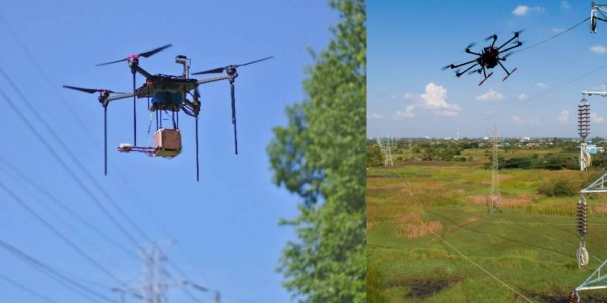 drone sensor avoid powerlines