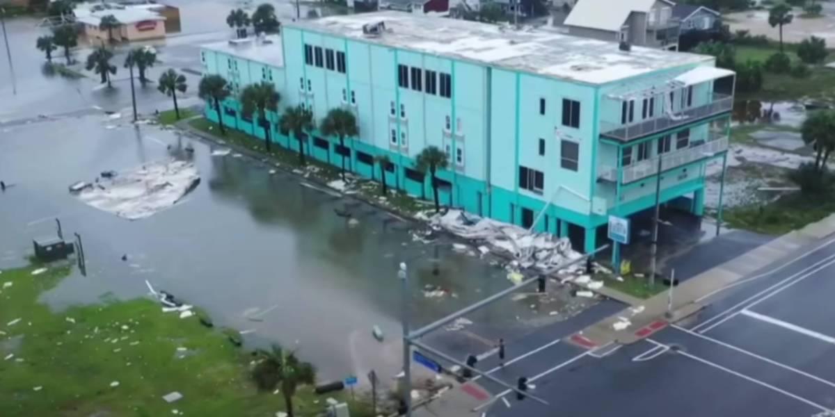 Drone footage Hurricane Sally