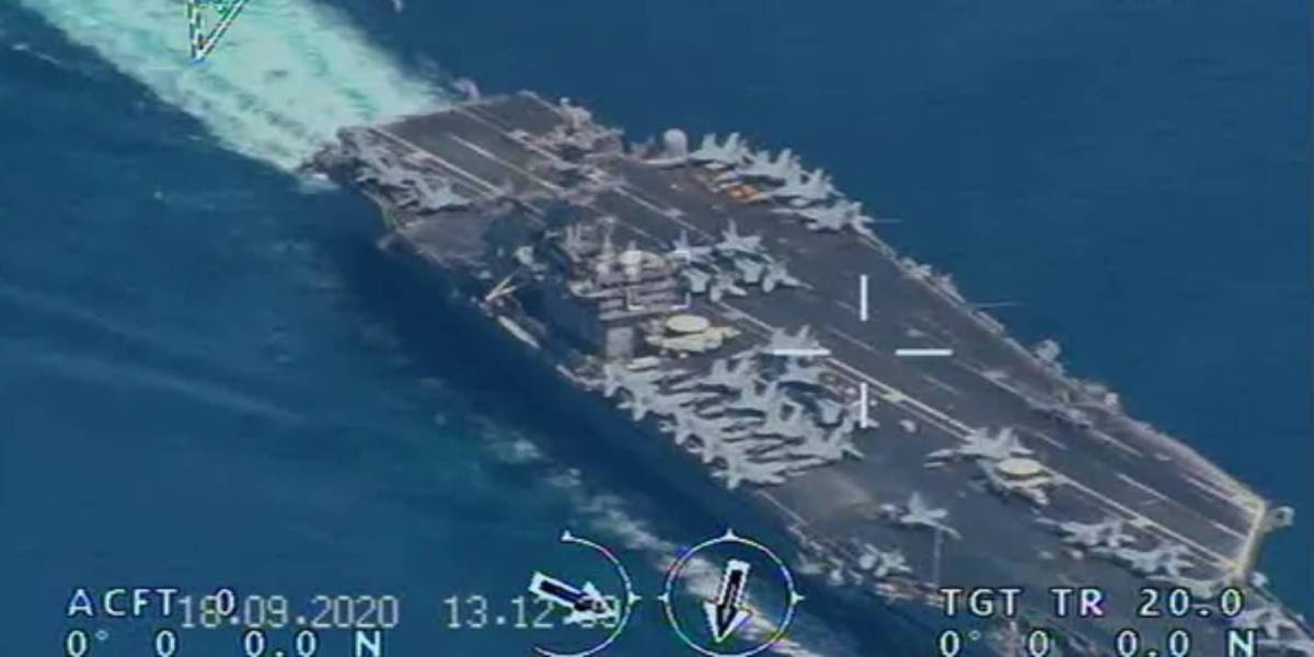 Iran drone US aircraft carrier