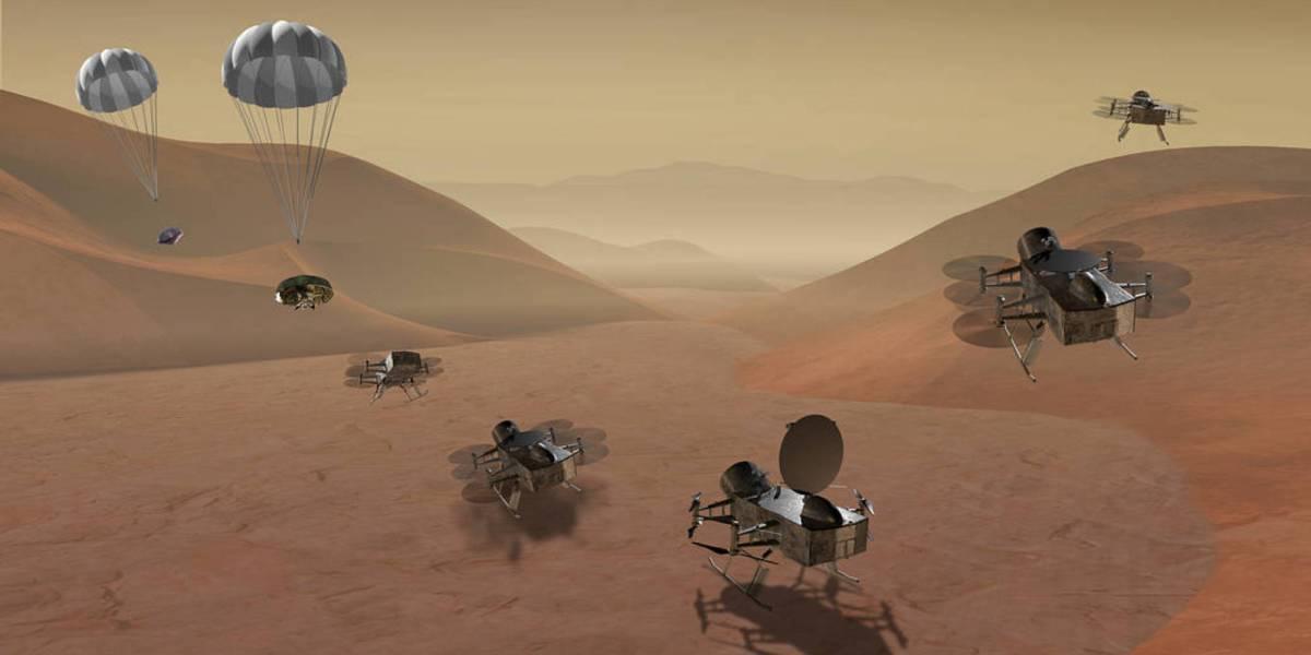 NASA Dragonfly drone Saturn's Titan drone-related flight programs
