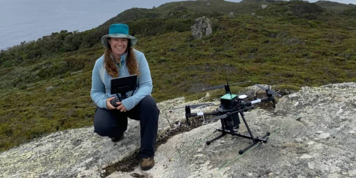 Researchers drone endangered animals