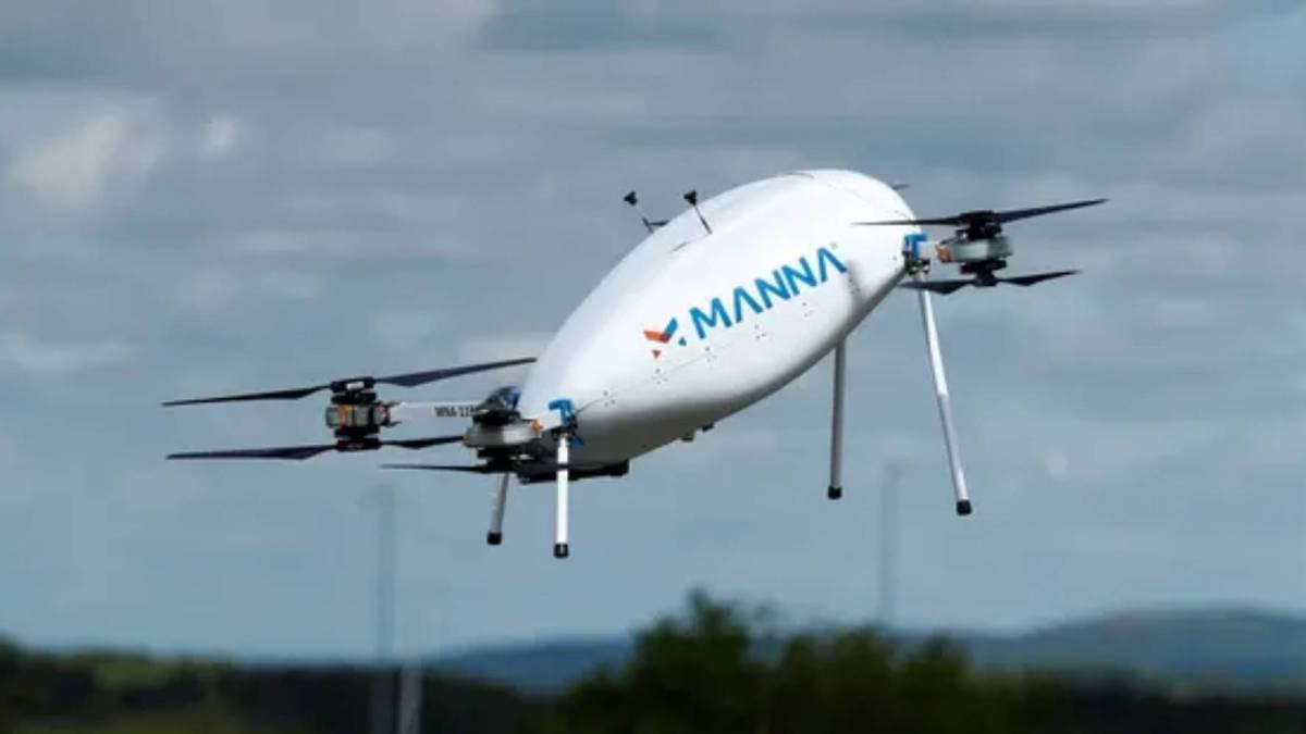 Tesco deliveries drone Ireland