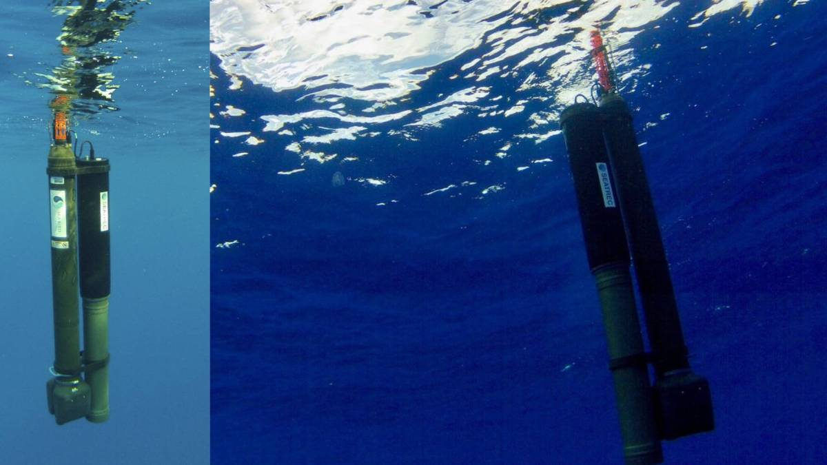 Underwater drone charges temperature