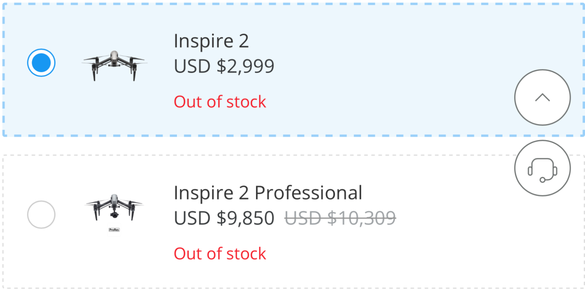 Inspire 2 Out of Stock