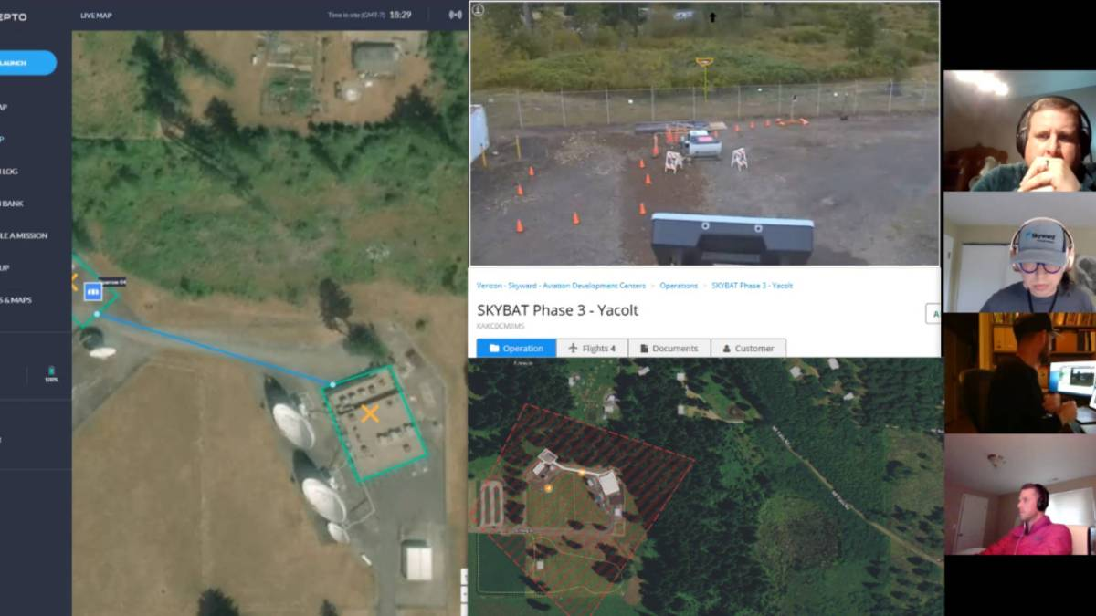 Verizon pilots network-connected drones