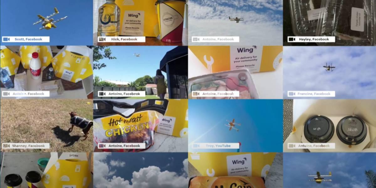 Wing drone deliveries Australia