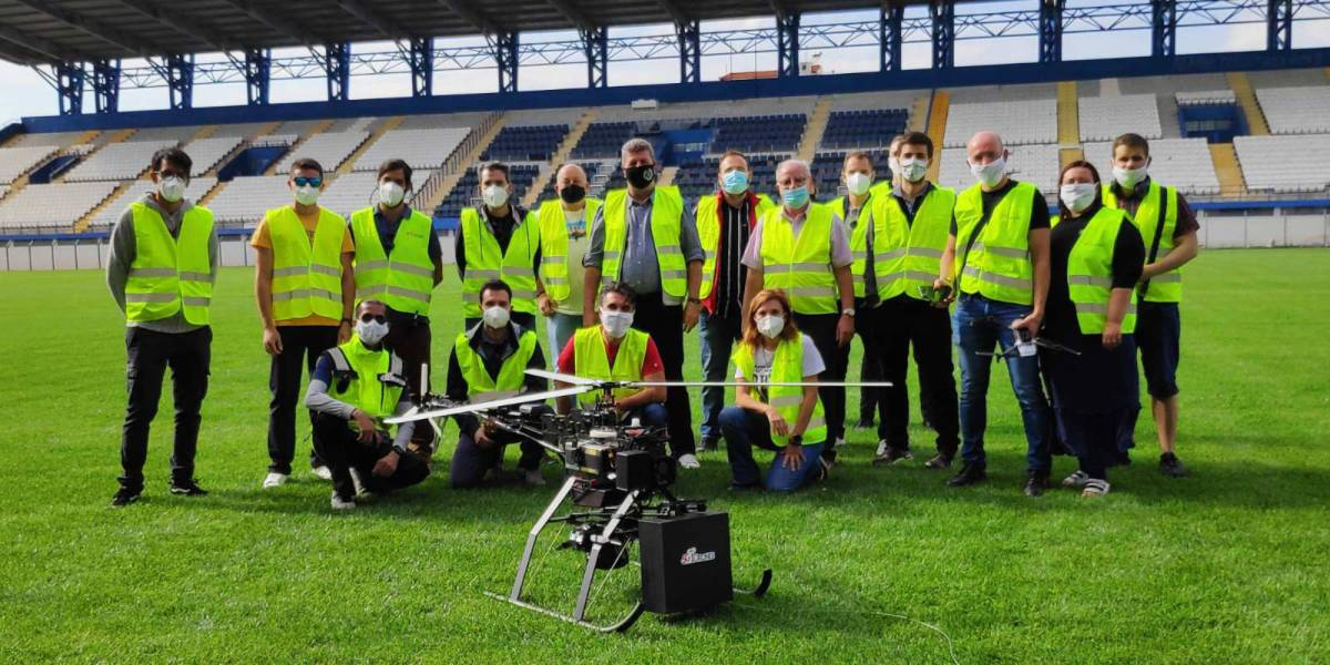 5G drones network connection events