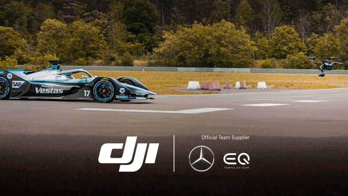 DJI Mercedes-Benz EQ drones