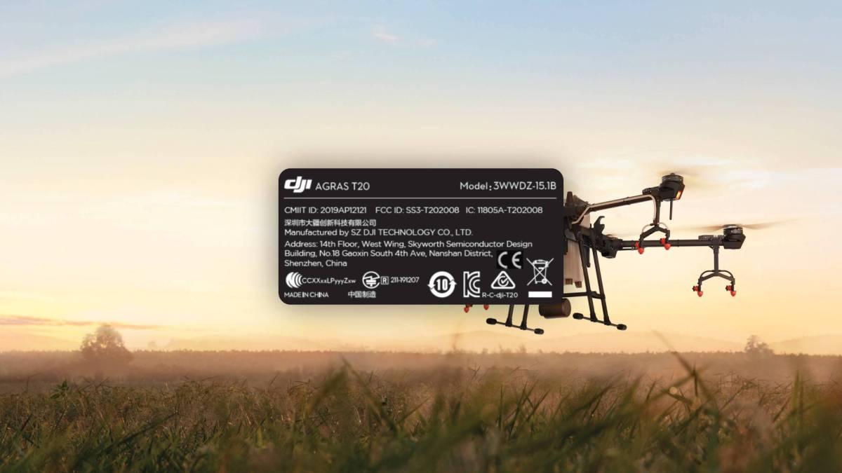 DJI's Agras T20 drone