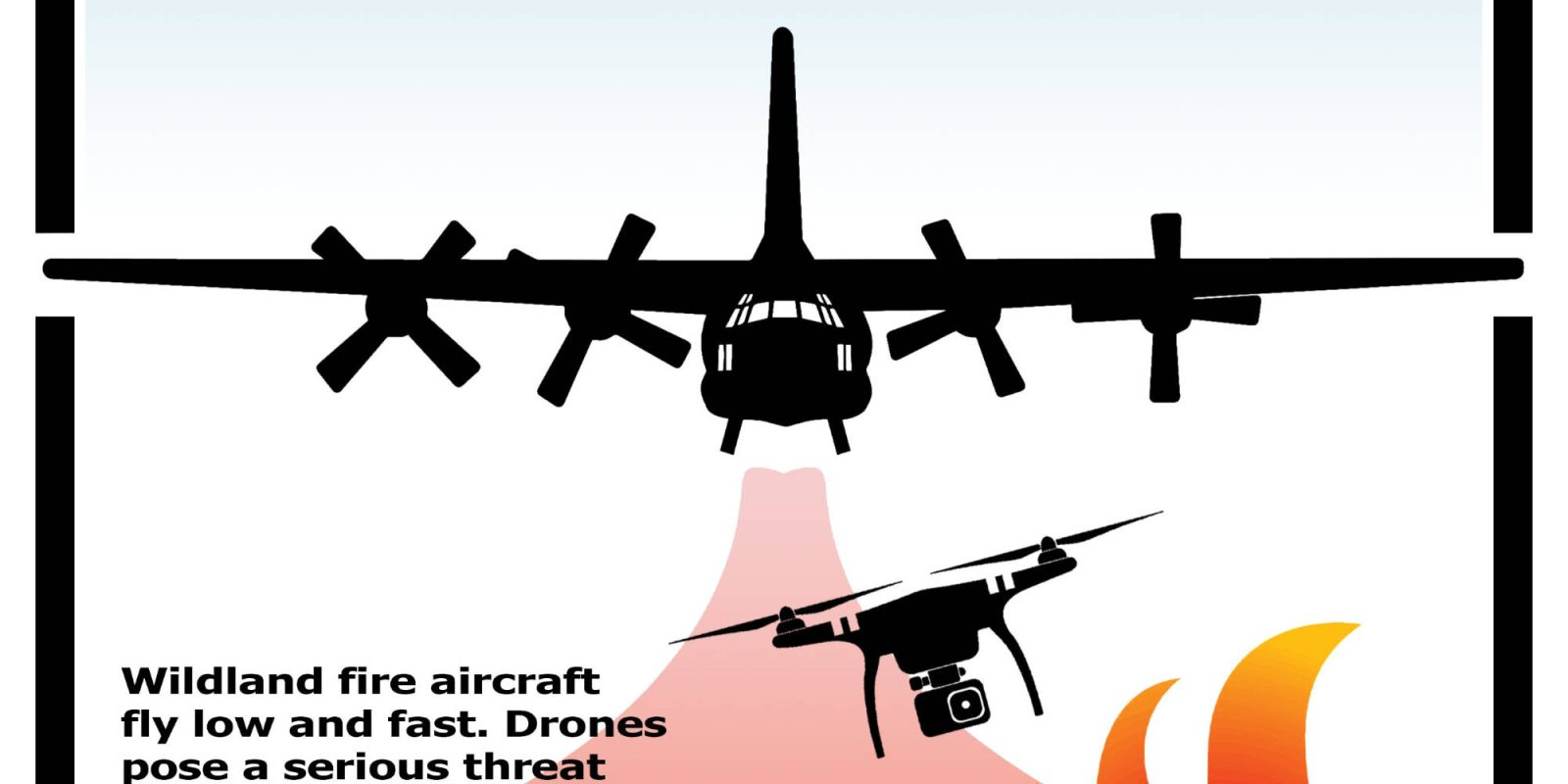 Drone flies into restricted airspace above the Red Salmon Fire