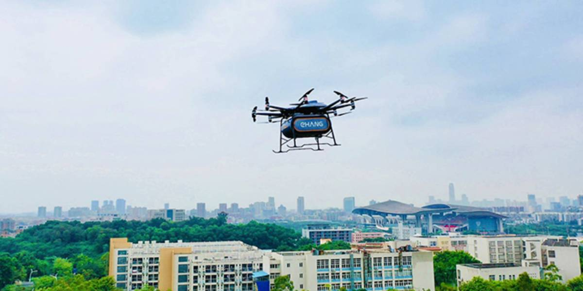 EHang heavy-lift autonomous drone