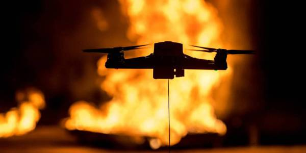 drone home protection wildfire