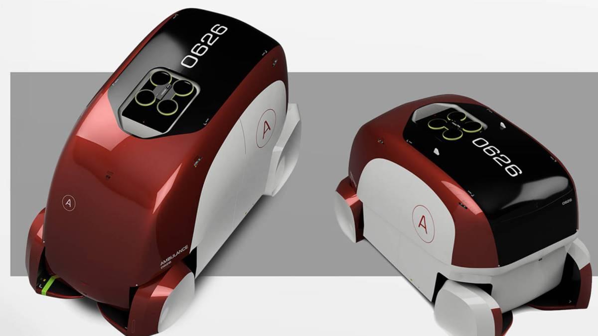 Futuristic ambulance drone
