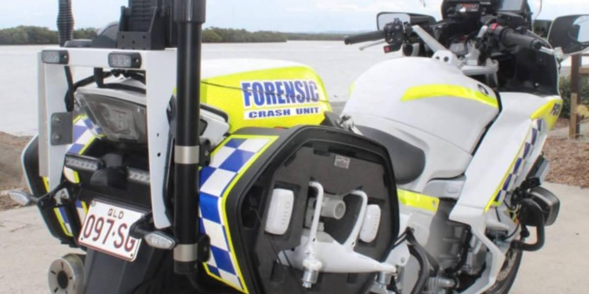 Queensland police motorbikes DJI drones