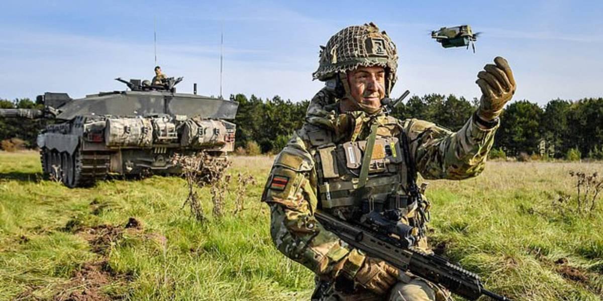UK Army's mini bug drone