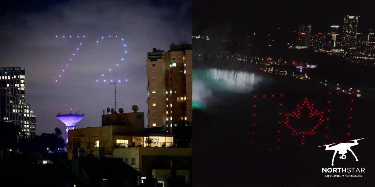 100 drones Ontario Canada