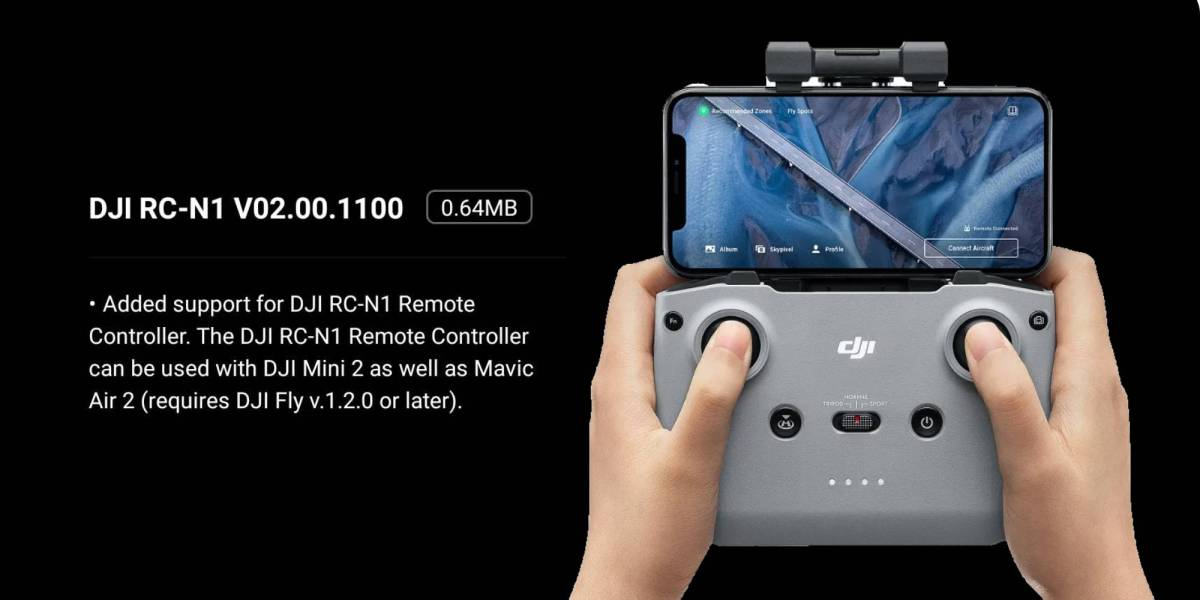 DJI Fly update Mini 2 Mavic Air