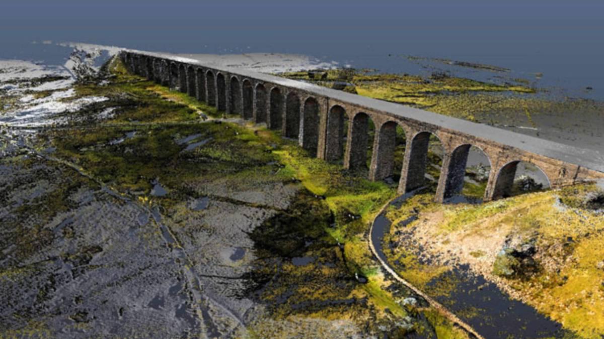 Drones LiDAR Yorkshire's viaduct restoration