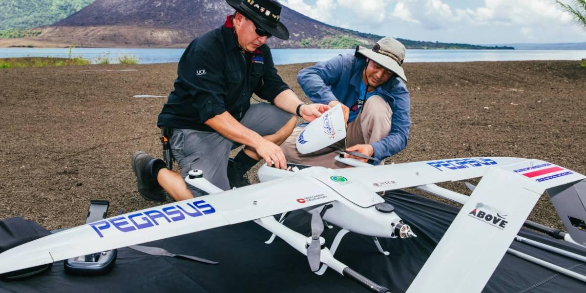 Drones life-saving data volcanoes