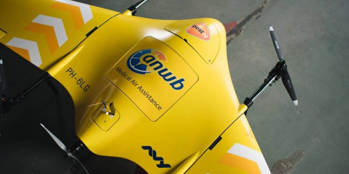 Medical drones flight Netherlands