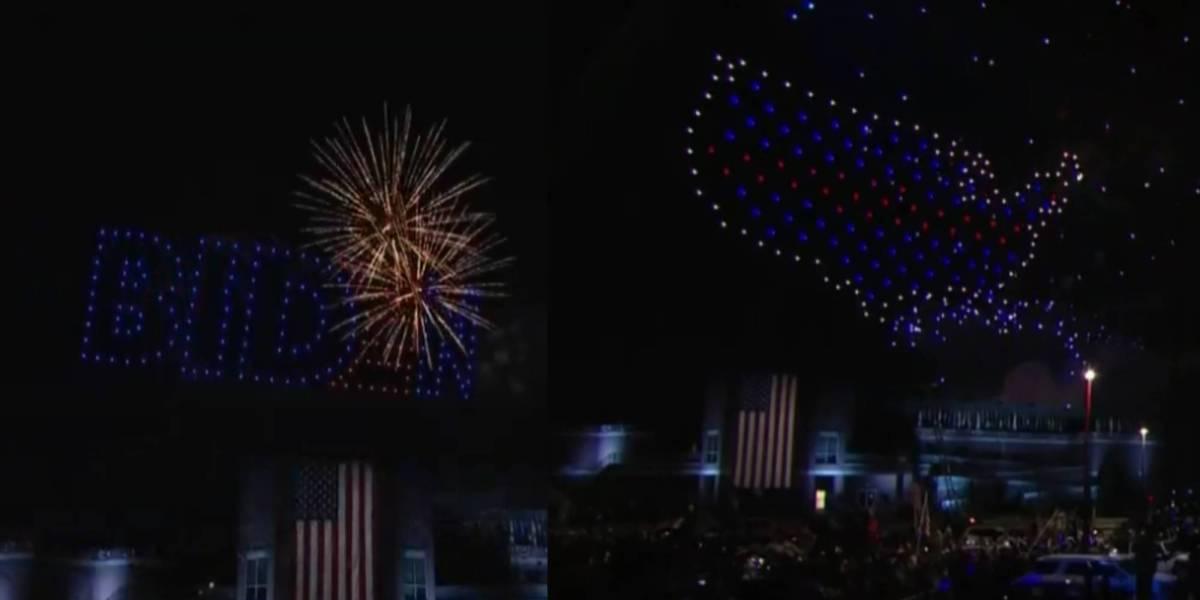 President-elect Biden drone show