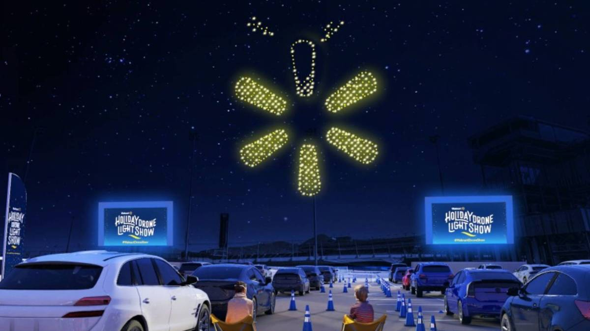 Walmart Intel drone light shows