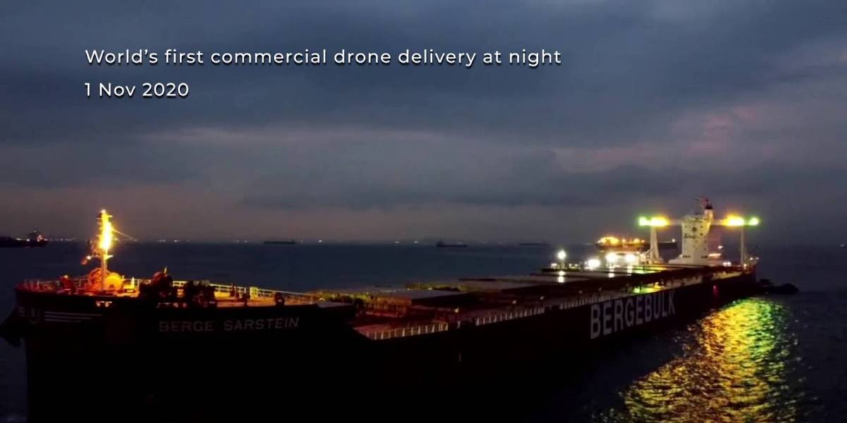 commercial night-time drone delivery