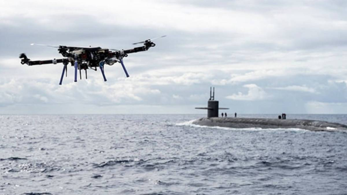 ship-to-submarine drone delivery