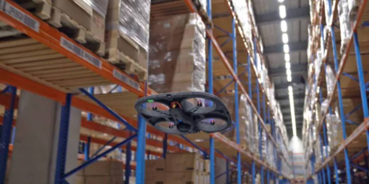 warehouse barcode scanning drones