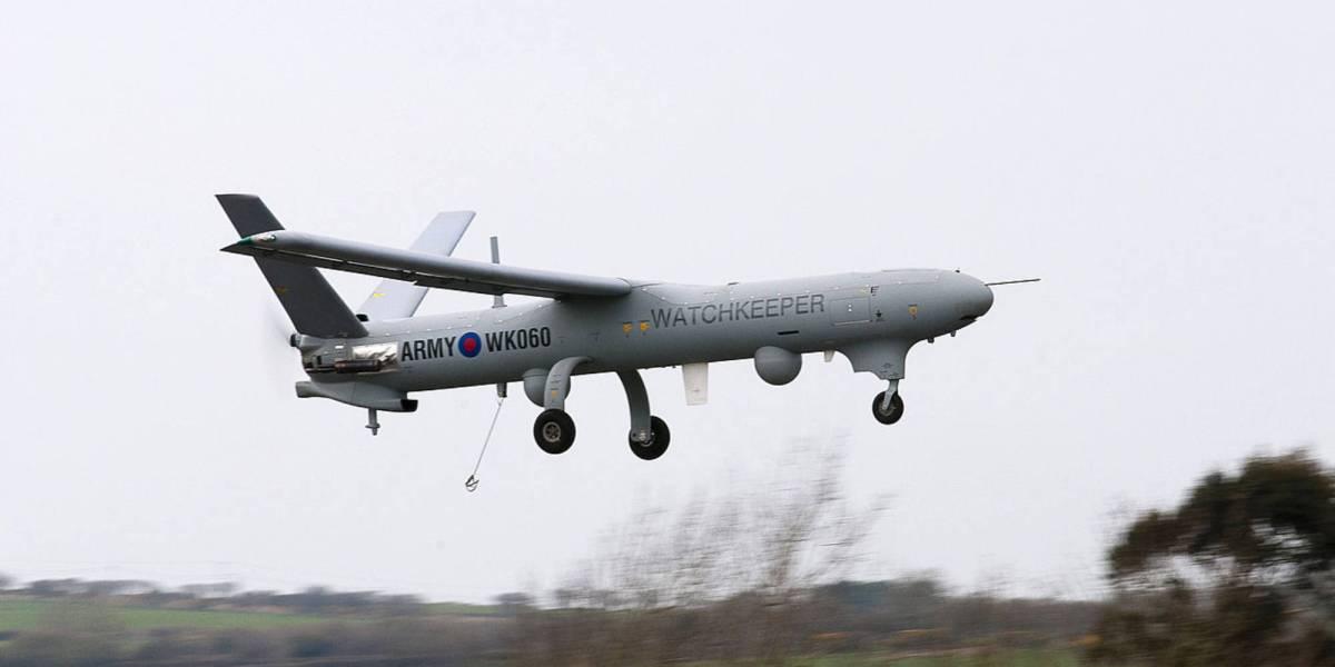 British military drone ground flight