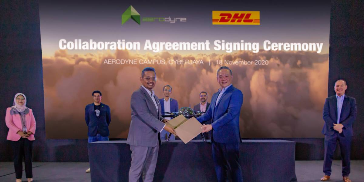 DHL Express Aerodyne drone delivery