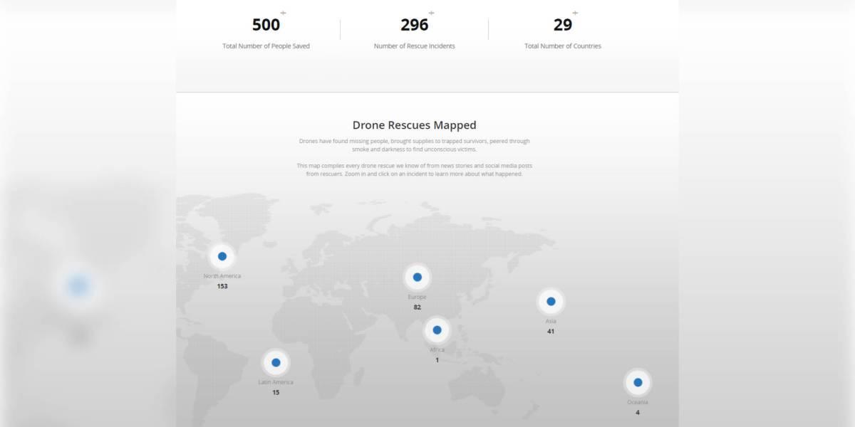DJI's drone rescue map 500