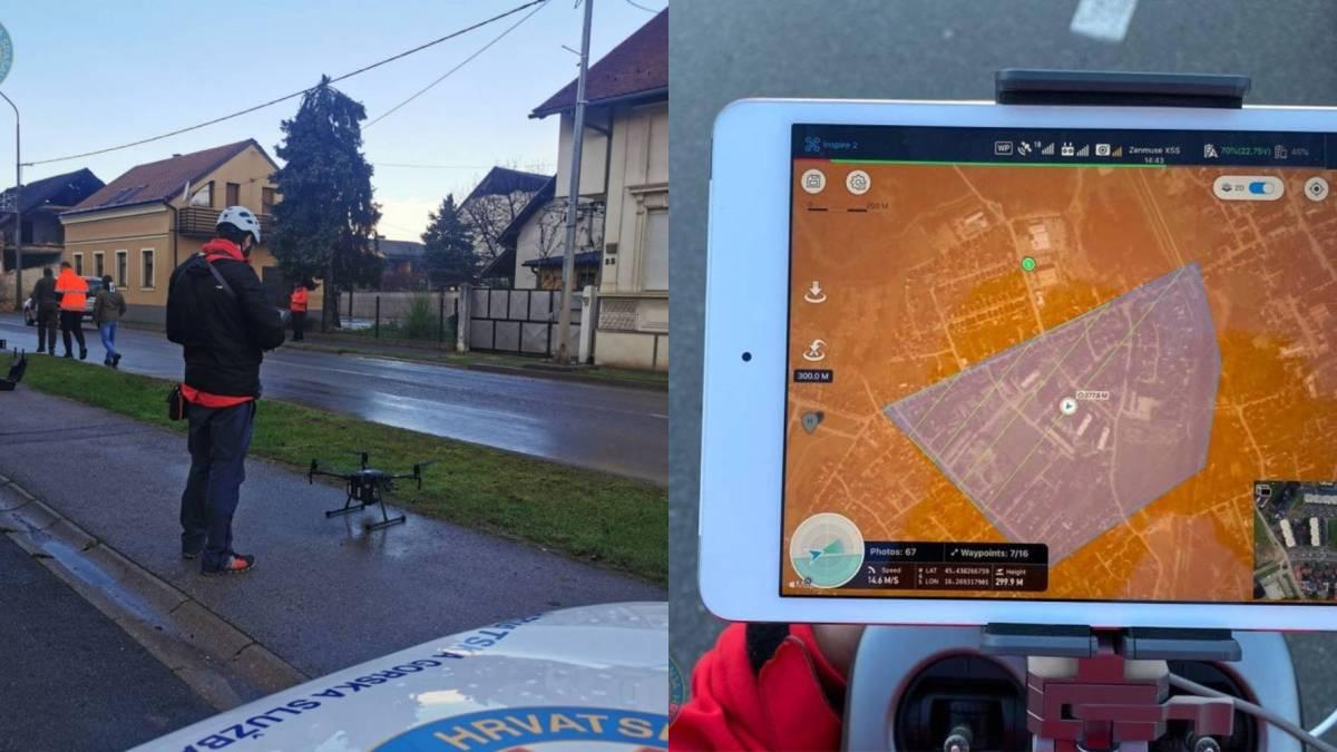 Drones Croatian earthquake cleanup