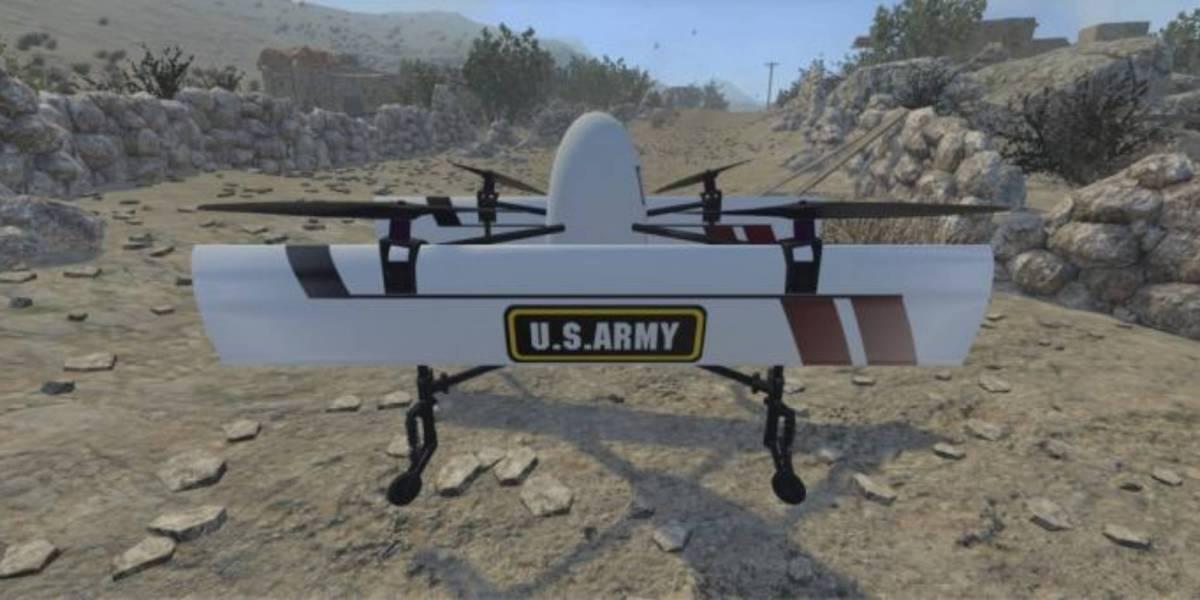 U.S. Army VTOL drones flight