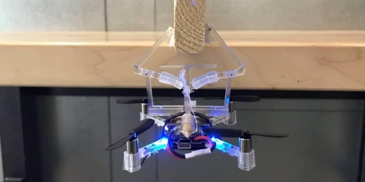 drone hang objects mechanical gripper