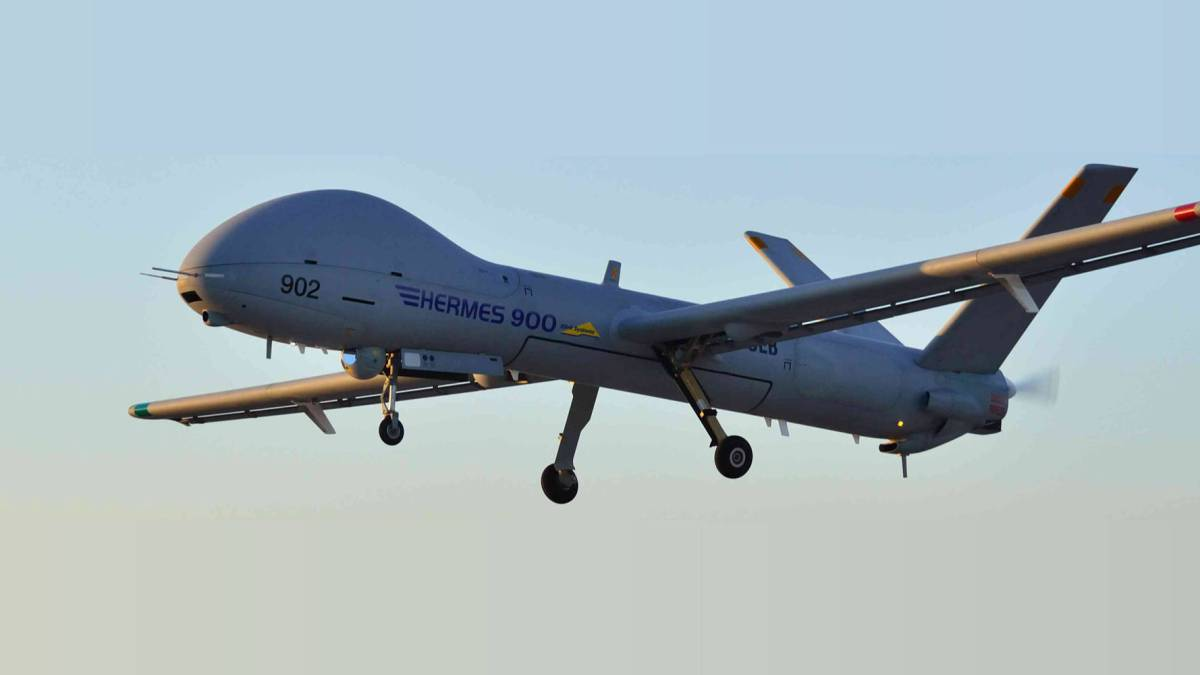 Canada drone whales Elbit System Hermes 900 drones