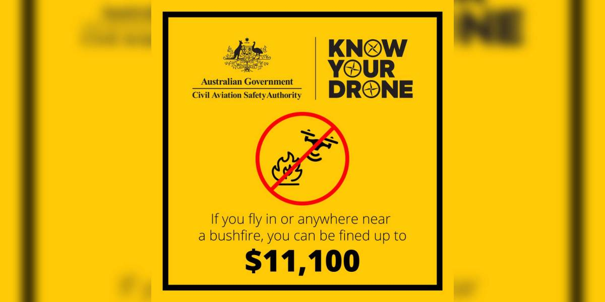 Don't fly drone bushfires