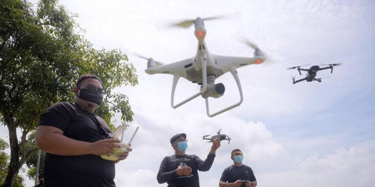 Drone-friendly areas pilots Singapore