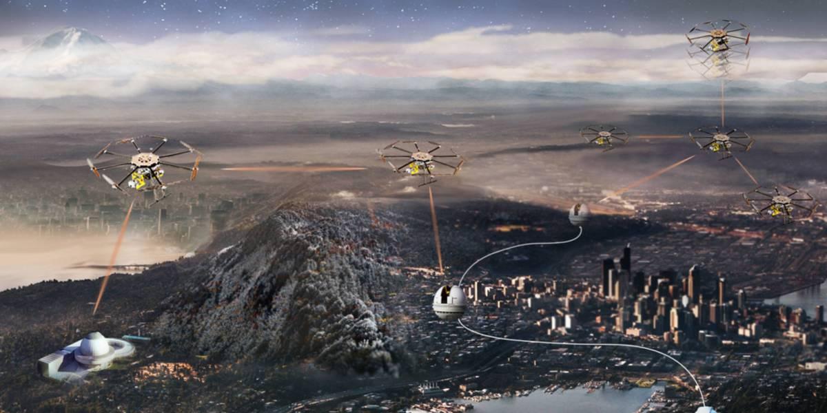 Drones future quantum internet