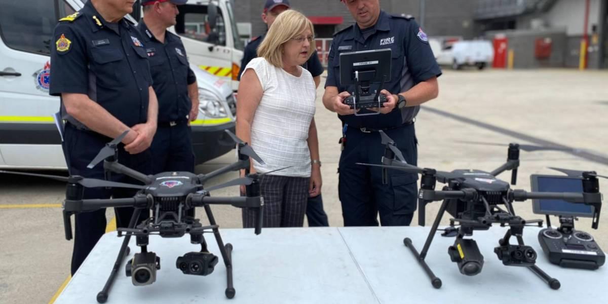 Firefighters Australia drone unit