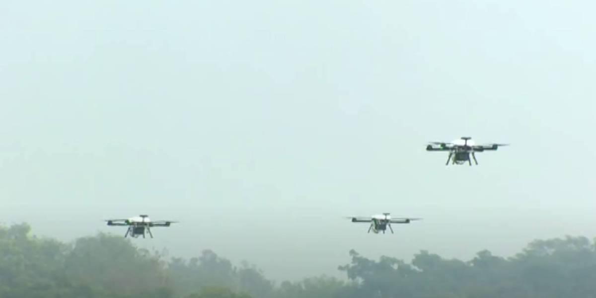Indian Army drone swarm