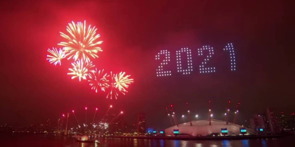London drone show new year's