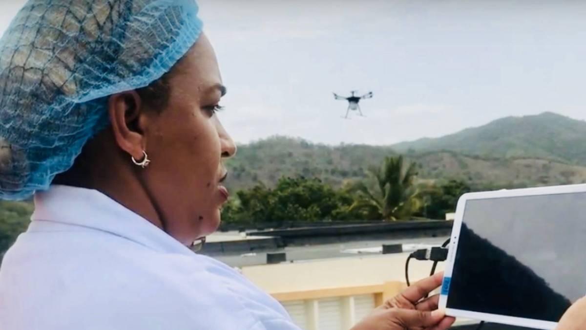 Pfizer WeRobotics COVID-19 drone