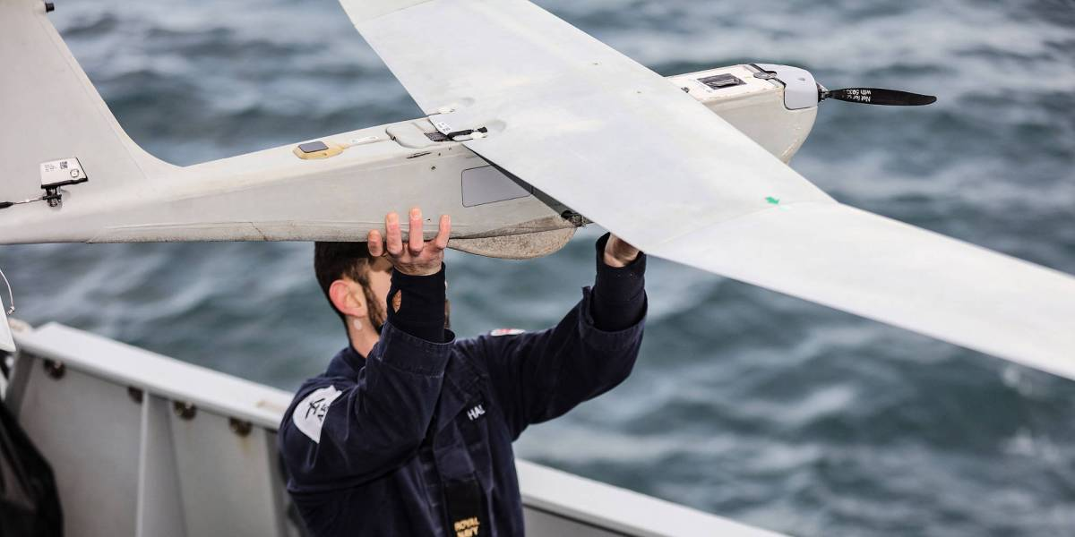 Royal Navy drones blood