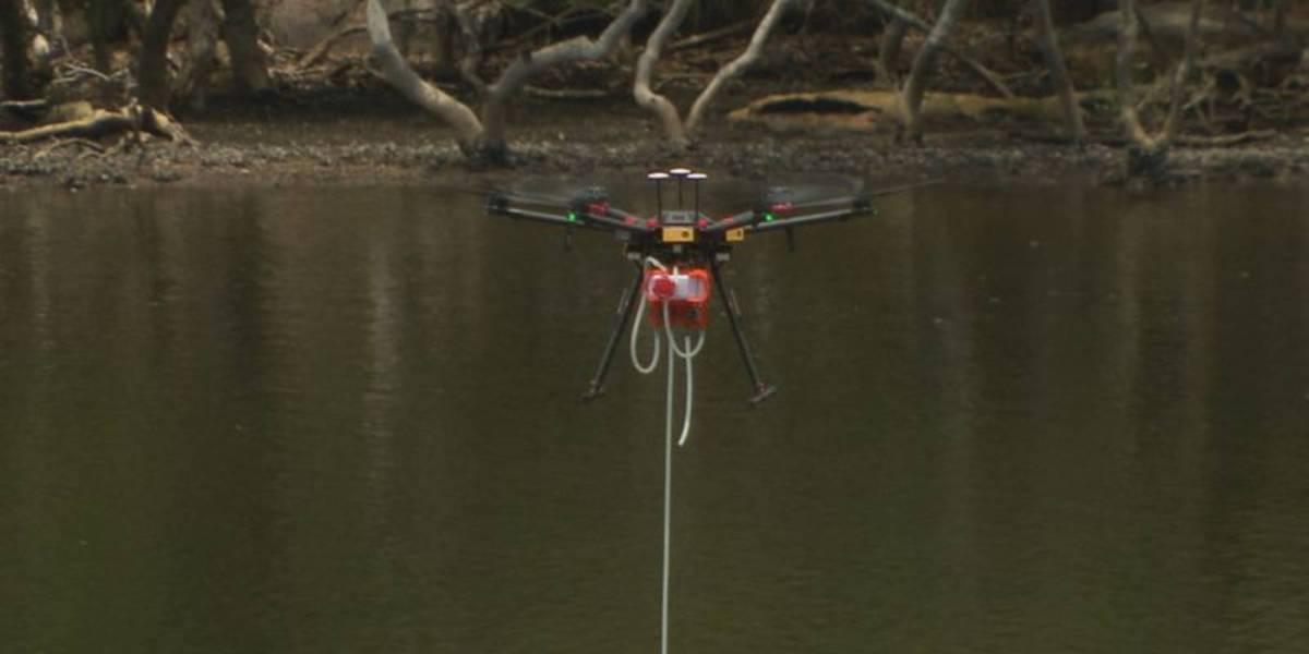 Sydney water testing drone
