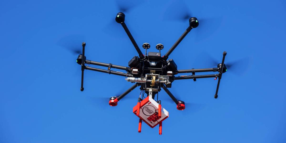 Walmart deliver Coca-Cola drone