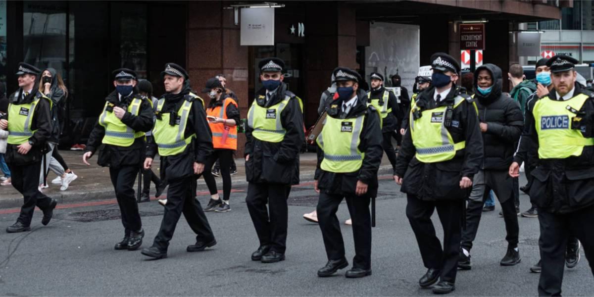 British police drones protests
