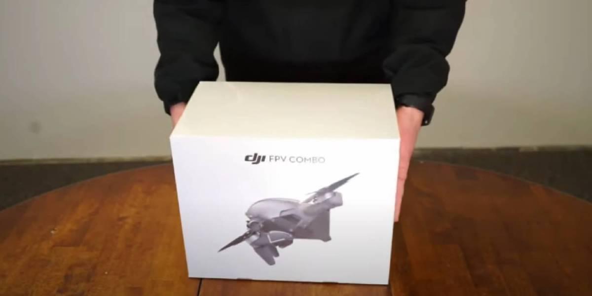 DJI FPV drone unboxing video