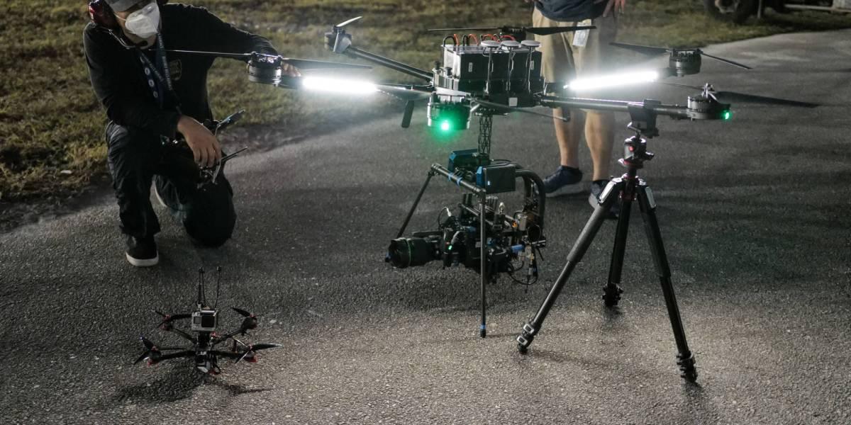Daytona 500 FPV drones